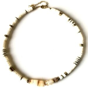 COLLIER PUKA WHITE CITRINE