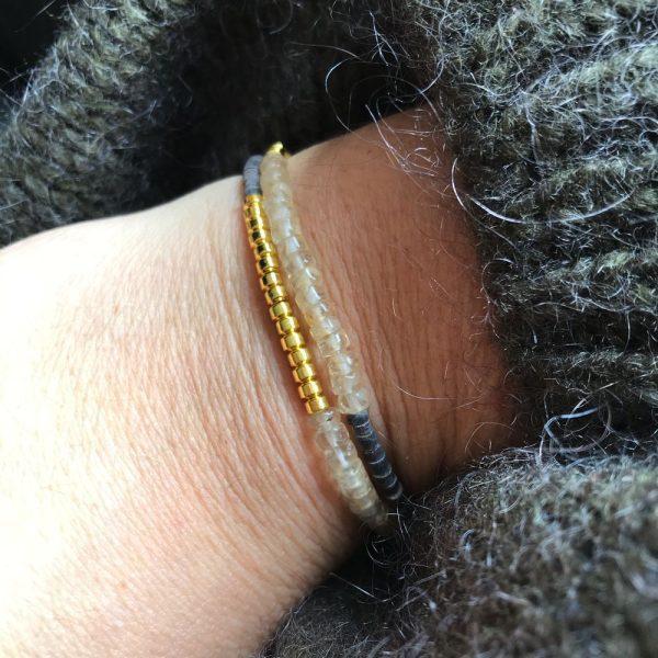 bracelet tiny puka citrine
