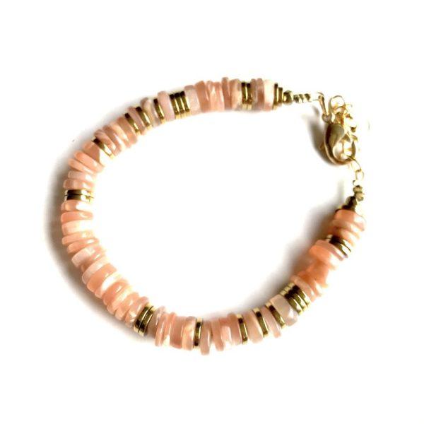 bracelet puka pierre de lune