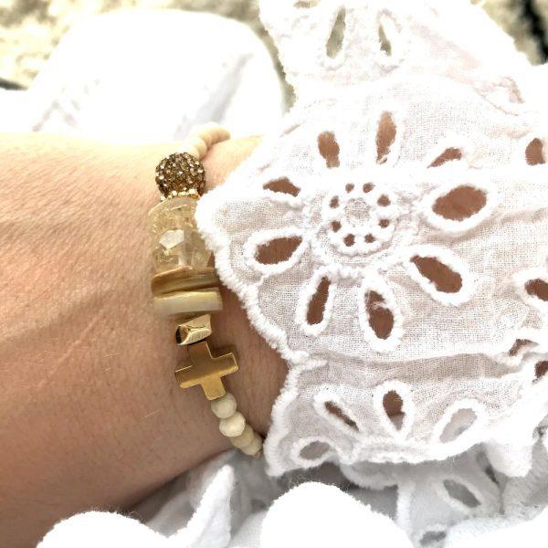 bracelet cruz citrine