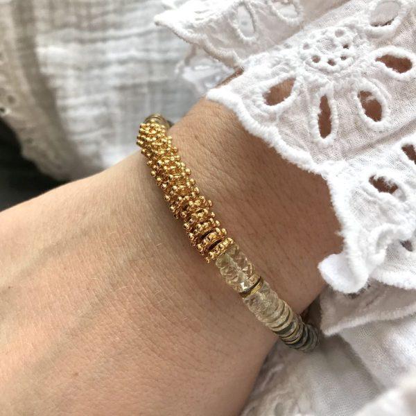 bracelet puka or citrine