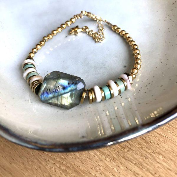 bracelet puka xl turquoise