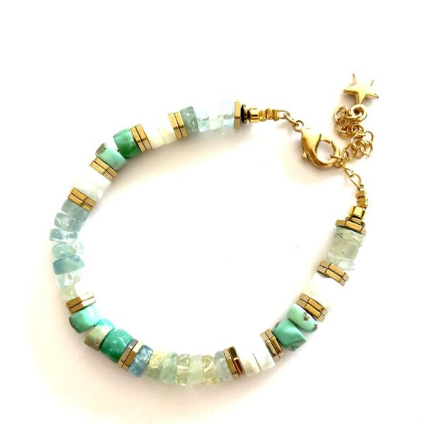 bracelet puka turquoise
