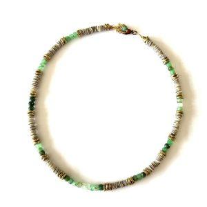 collier Athena shell emeraude
