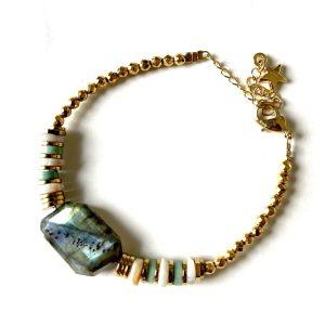 bracelet puka turquoise xl