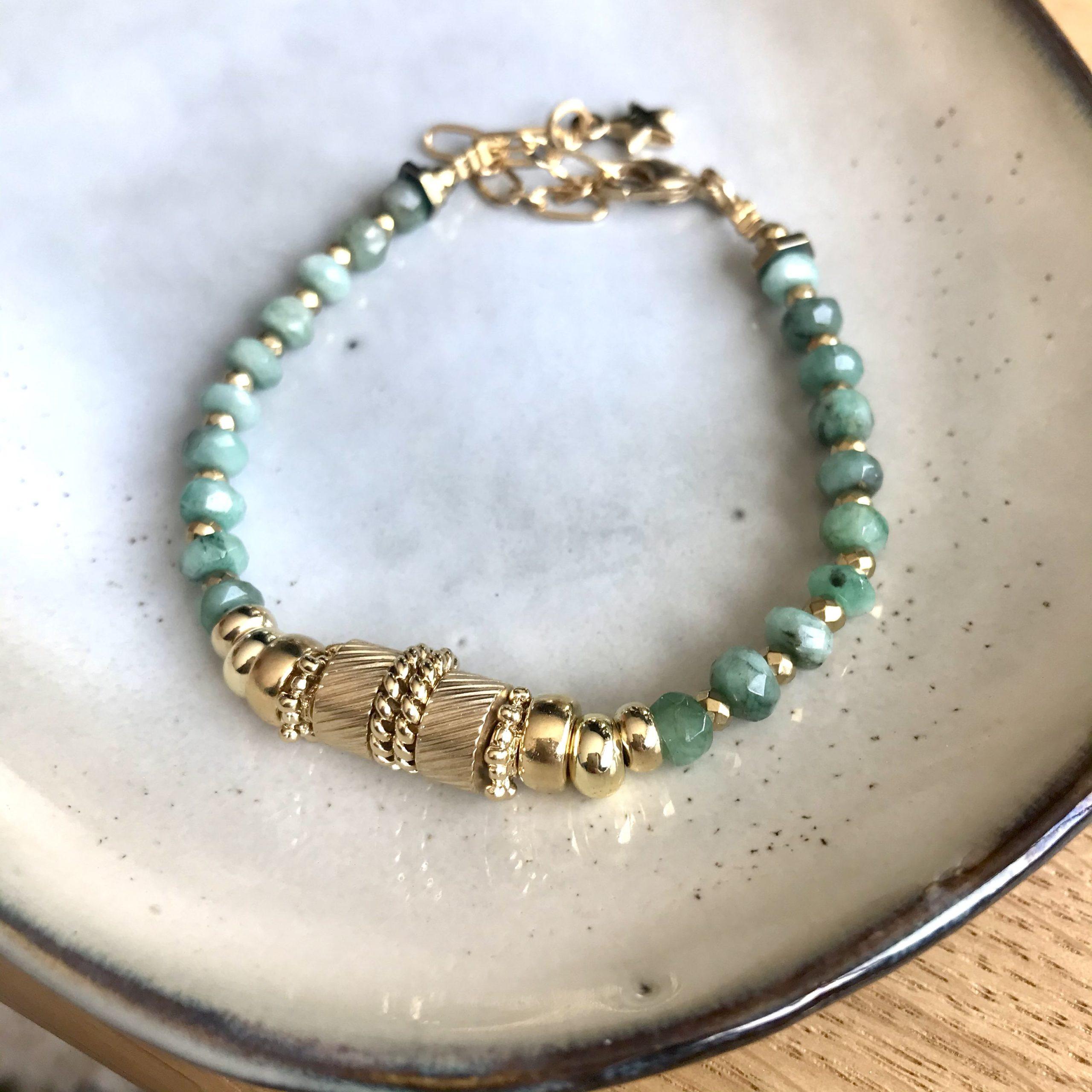 bracelet eden or emeraude