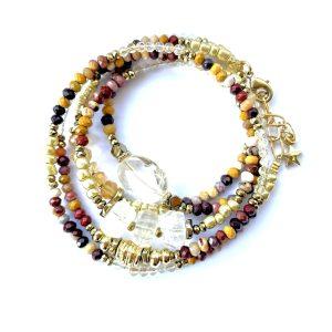 bracelet multitours jaspe molaire