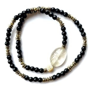bracelet double scarab rutile
