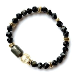 bracelet forza obsidienne