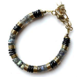 bracelet iman labradorite spinelle