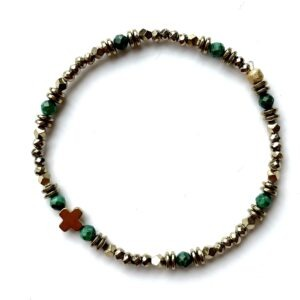 bracelet tiny cruz malachite