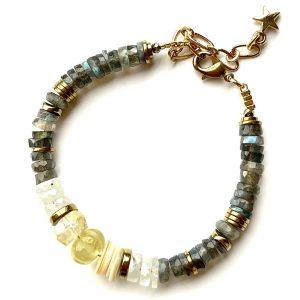 bracelet puka protect citrine