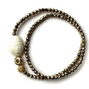 bracelet double protect scarabée opale